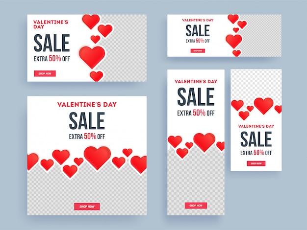 Bandiere di vendita di san valentino.