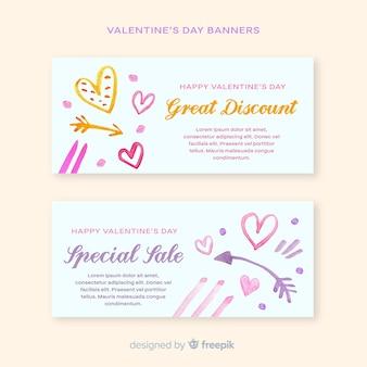 Bandiere di vendita di san valentino