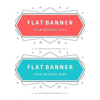 Bandiere di vettore geometrico piatto.