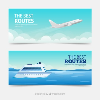 Bandiere di viaggio con destinazione