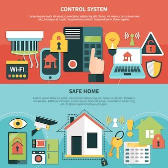 Bandiere domestiche sicure del sistema di controllo