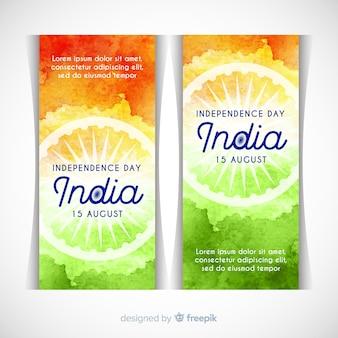 Bandiere felici dell'indipendenza dell'india