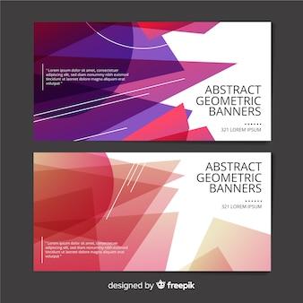Bandiere geometriche astratte