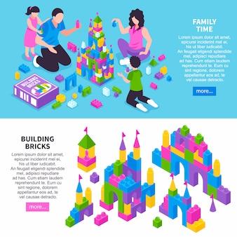Bandiere isometriche costruttore di giocattoli