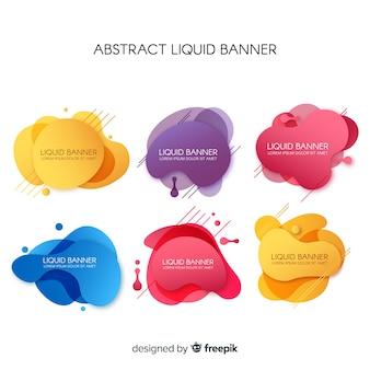 Bandiere liquide astratte