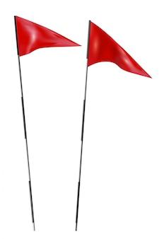 Bandiere macchiate da golf
