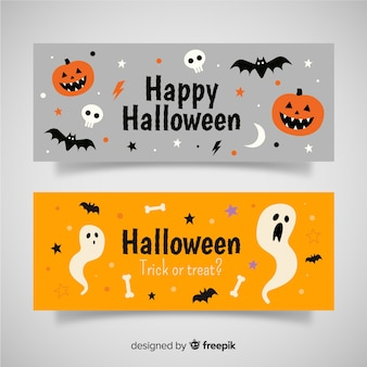 Bandiere moderne di halloween