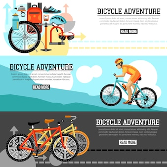 Bandiere orizzontali di avventura di ciclismo