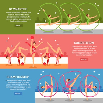 Bandiere orizzontali di ginnastica artistica