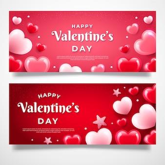 Bandiere piatte di san valentino