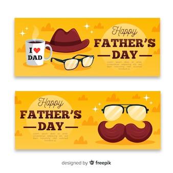 Bandiere piatte per la festa del papà