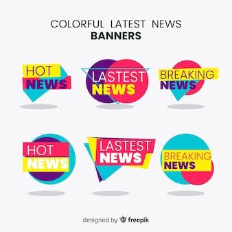 Bandiere variopinte di ultime notizie