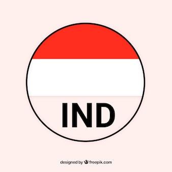 Bandierina rotonda dell'indonesia