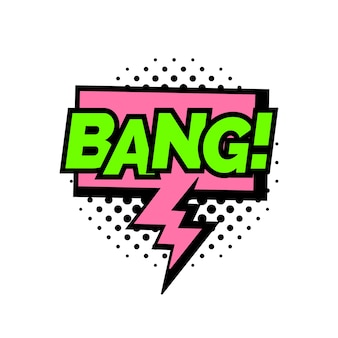 Bang lettering comico