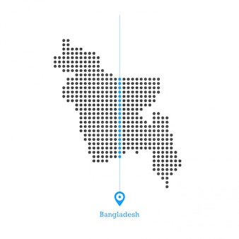 Bangladesh doted map design vettoriale