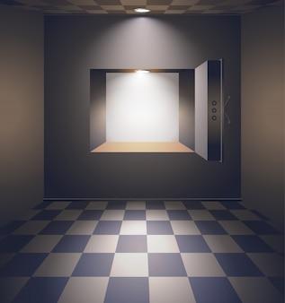 Bank room con cassaforte