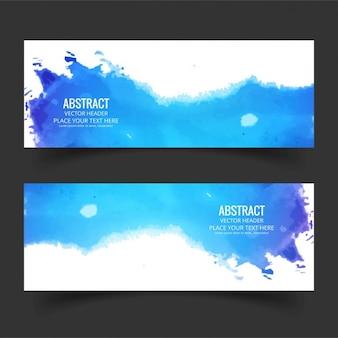 Banner acquerello blu