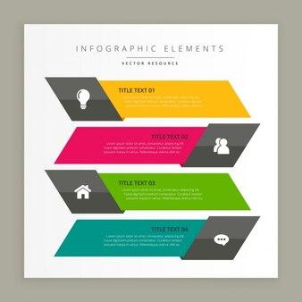 Banner affari infographic