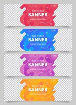 Banner astratto moderno rosso, blu, viola e giallo in vendita