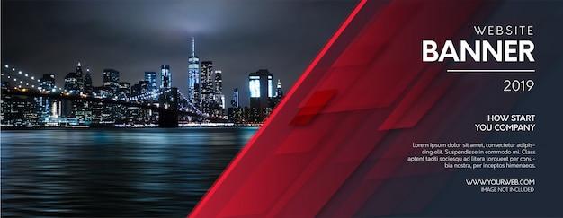 Banner astratto sito web con forme moderne