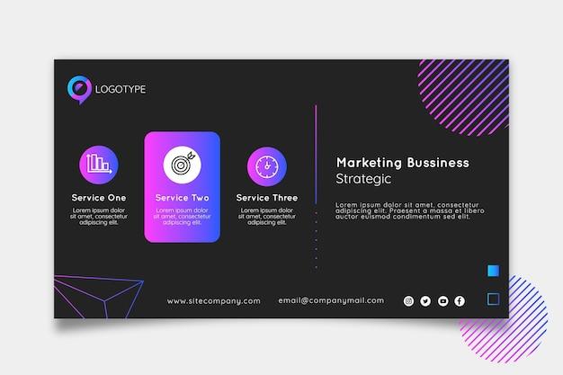 Banner aziendale di marketing
