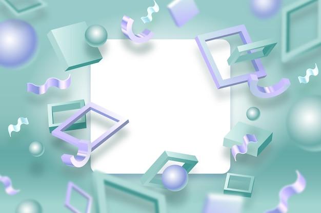 Banner bianco con forme geometriche