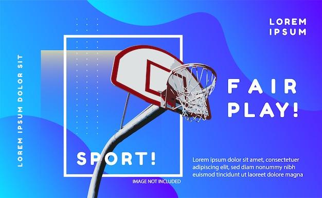 Banner blu sport
