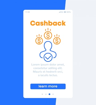 Banner cashback, design mobile