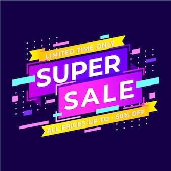 Banner colorato astratto super vendita