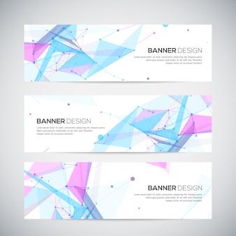 Banner con forme astratte poligonali