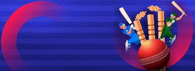 Banner con tornei di cricket e bat