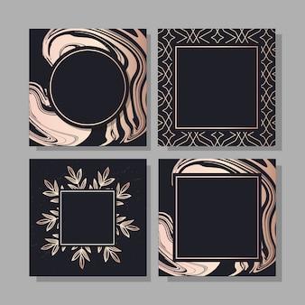 Banner con un design d'oro moda arte vettoriale