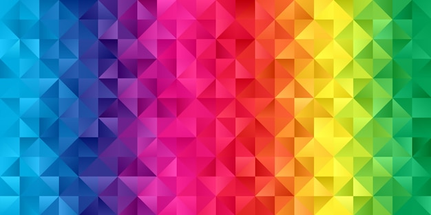 Banner con un design low poly color arcobaleno