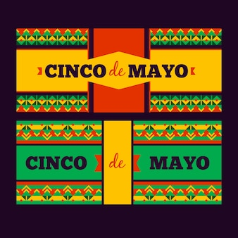 Banner creativi di cinco de mayo