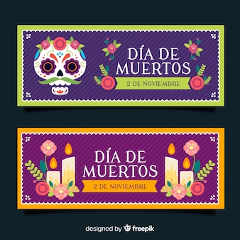 Banner creativi di de muertos