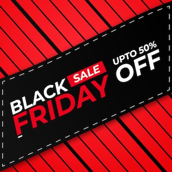 Banner creativo di offerta di vendita del black friday