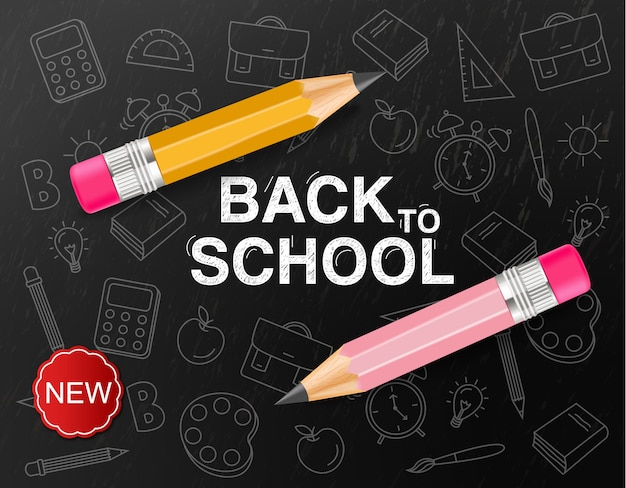 Banner creativo di ritorno a scuola
