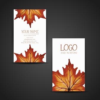 Banner d'autunno dell'acquerello