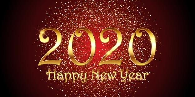 Banner decorativo di felice anno nuovo