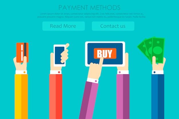 Banner dei metodi di pagamento