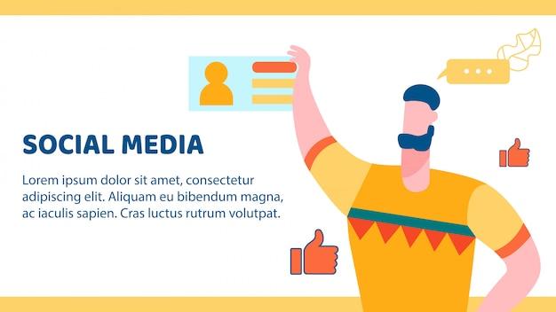 Banner dei social media