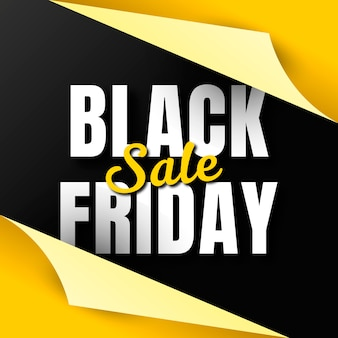 Banner del black friday con carta da regalo aperta