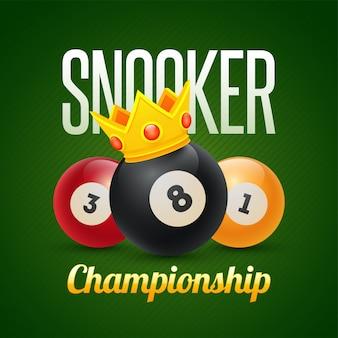 Banner del campionato di snooker.