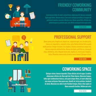 Banner del centro di coworking