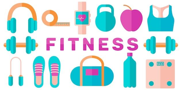 Banner del concetto di fitness