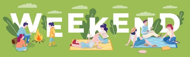 Banner del fine settimana estivo