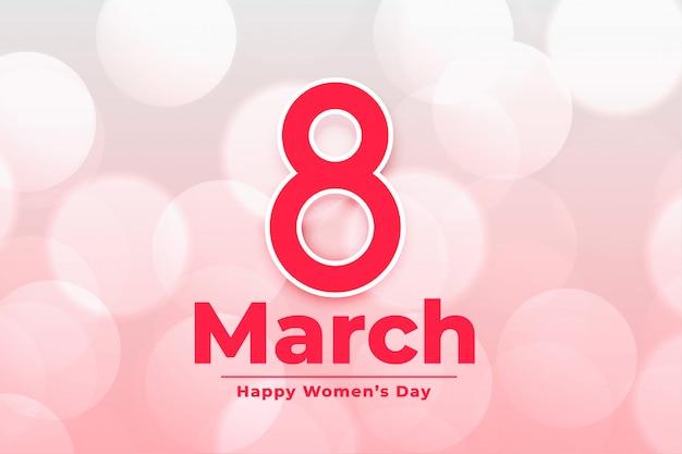 Banner del giorno delle donne felici dell'8 marzo internazionale