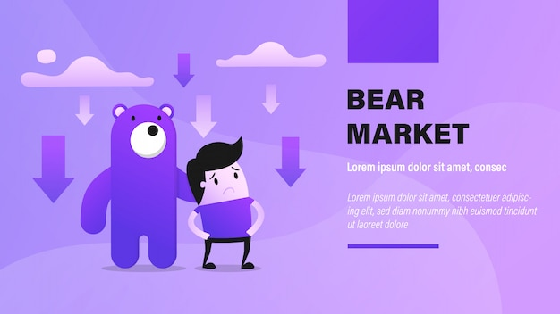 Banner del mercato dell'orso