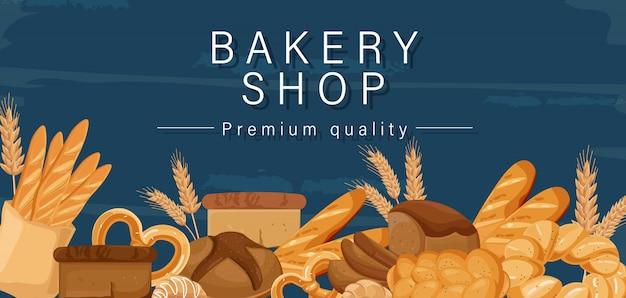 Banner del negozio di panetteria