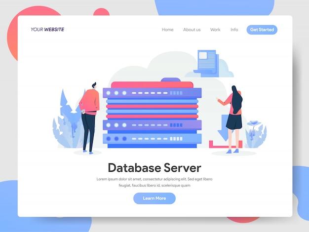 Banner del server di database della pagina di destinazione